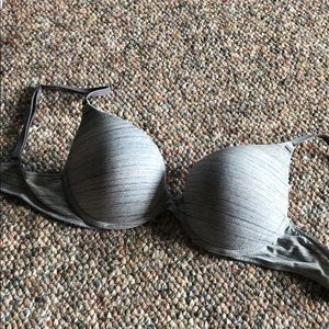 Gray push-up bra